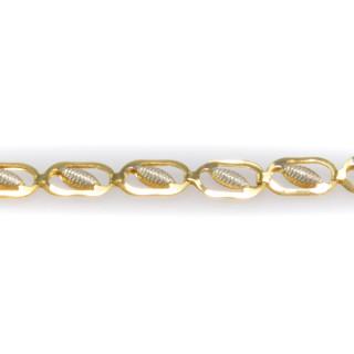 Zlatý náramek zdobený rytými lístečky 6194 PL