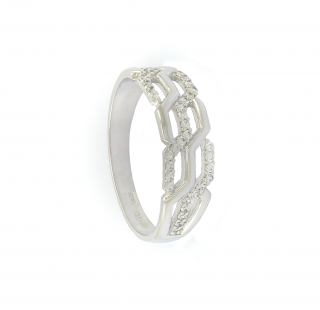 Zlatý dámský prsten se zirkony velikost 57