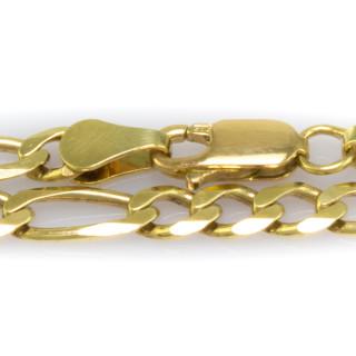 Zlatý náramek vzoru Figaro