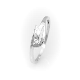 Jemný prstýnek z bílého zlata 486 KV