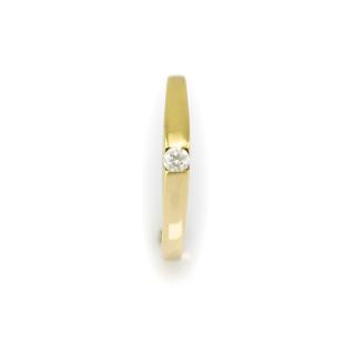 Zlatý prstýnek s jedním zirkonem 3841 PL