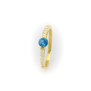 Zlatý prsten s kamenem3896 PT